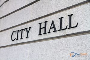 Sign for City Hall