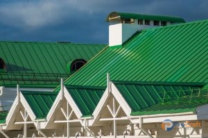 Green Commercial Standing Seam Metal Roof