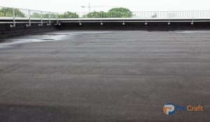 Flat Commercial Roof with EPDM Roofing Materials