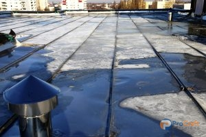 Flat Roof Needing Polyurea Roof Coatings