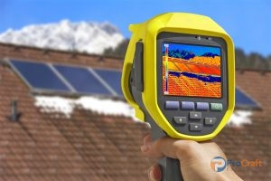 Thermal Imaging Camera Used by Commercial Roofing Consultants