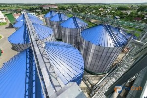 Silos With Agricultural Metal Roofing Materials
